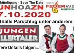 """AUNHOAZN 2020 mit """"Die jungen Zillertaler"""" – JUZI's bei der FFKP!"""