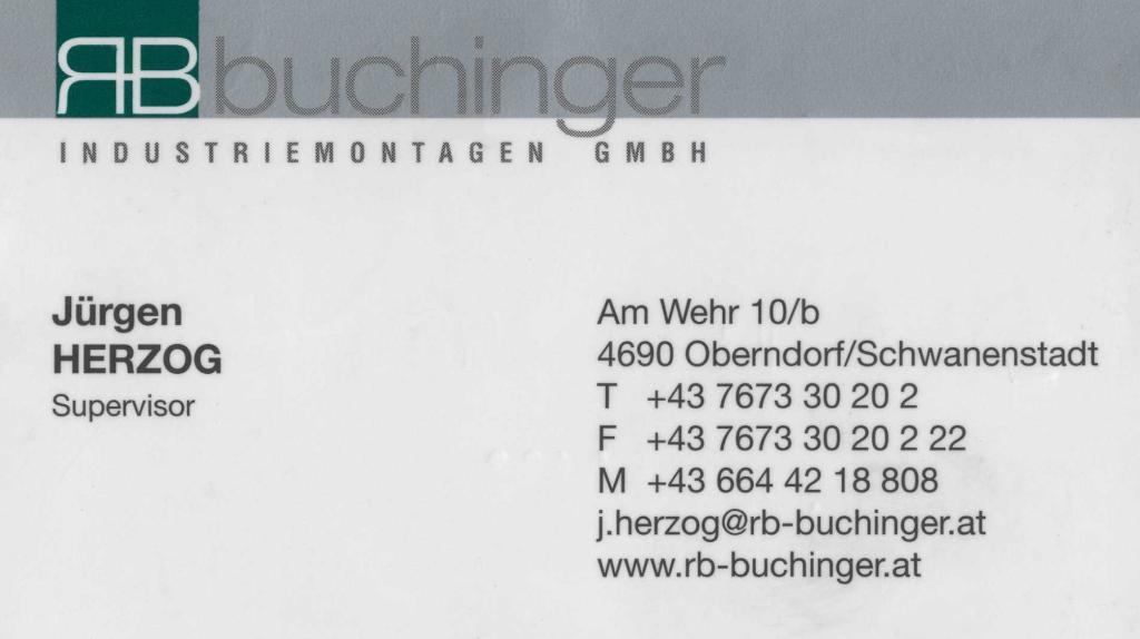 RB Buchinger Industriemontagen GmbH