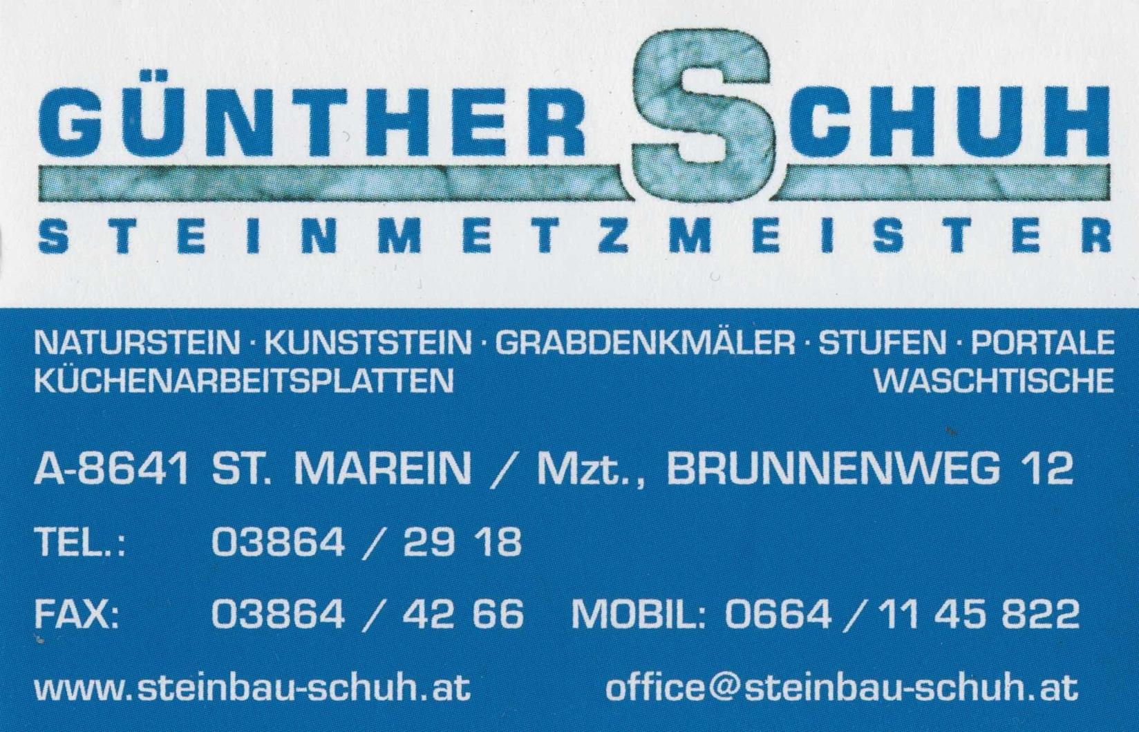 Günther Schuh Steinmetzmeister